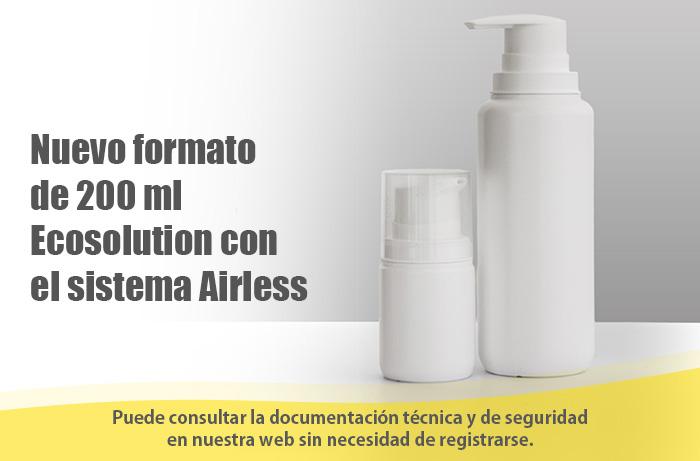 GUINAMA presenta Ecosolution de 200 ml. El primer airless ecológico del mercado
