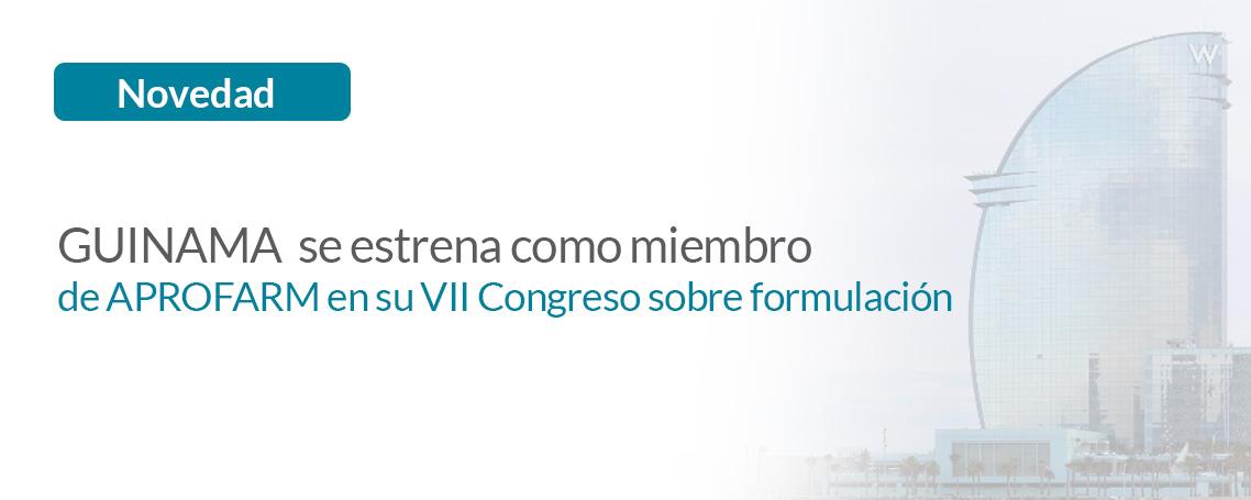 GUINAMA SERÁ PATROCINADOR DE LA ASOCIACIÓN ESPAÑOLA DE FARMACÉUTICOS FORMULISTAS