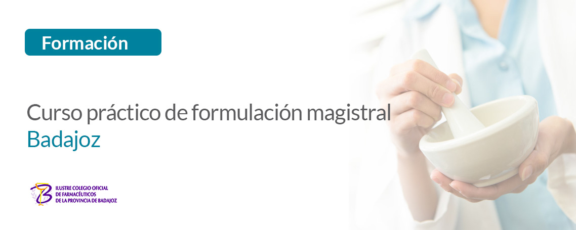 GUINAMA patrocina el curso práctico de formulación magistral organizado por el COF de Badajoz