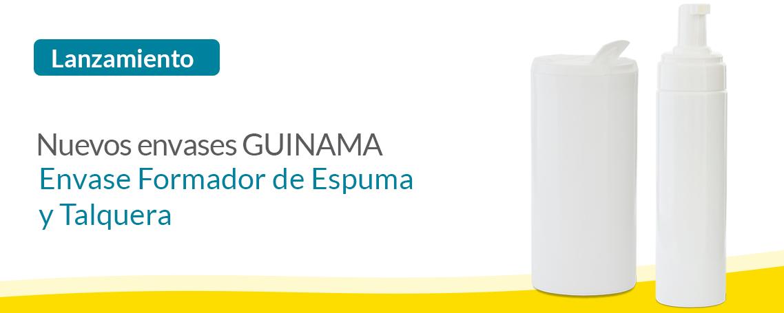 Lanzamiento Nuevos Envases GUINAMA: Frasco Espumador y Talquera