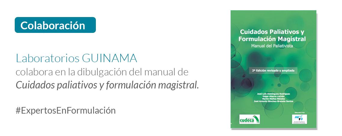 GUINAMA colabora con AEFF en la divulgación del Manual De Cuidados Paliativos y Formulación Magistral