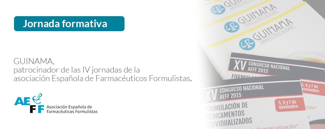 Guinama, patrocinador de las IV jornadas de la asociación española de farmacéuticos formulistas.
