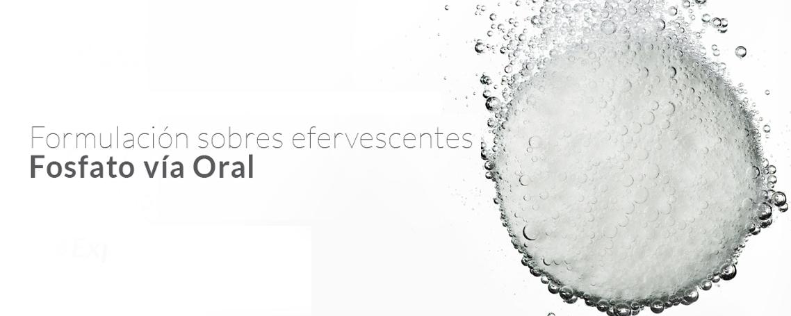 Formulación breve sobre el Fósforo/Fosfato vía oral