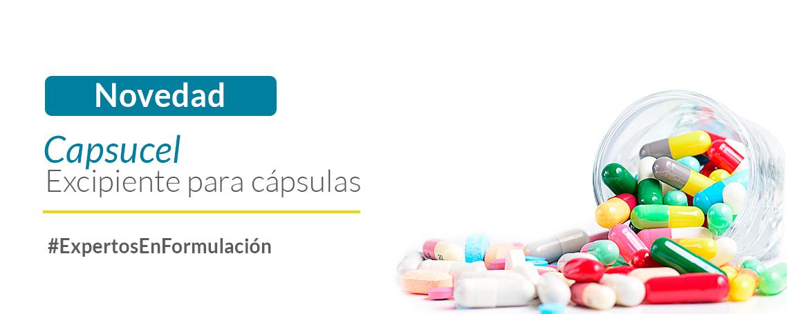 Un novedoso lanzamiento de GUINAMA: Capsucel excipiente para cápsulas