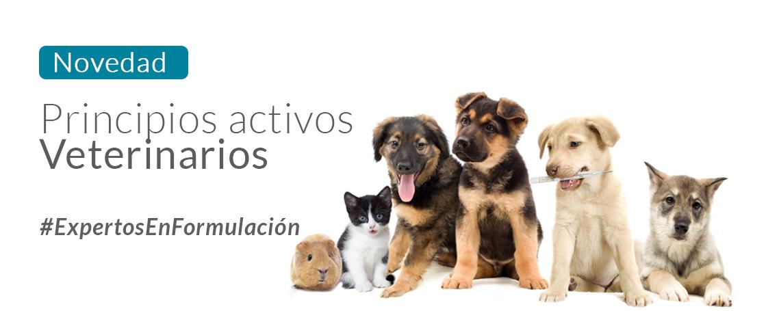 Principios activos para formulación veterinaria
