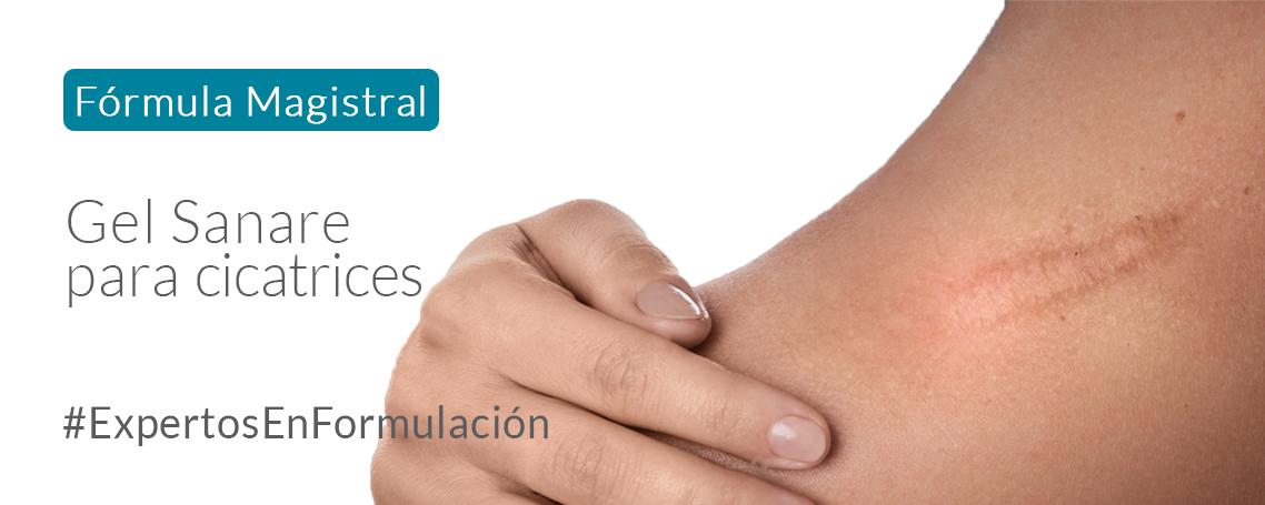 Fórmula Magistral: Gel Sanare para mejorar cicatrices