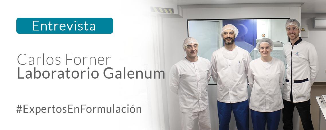 Entrevistamos a Carlos Forner, Director Técnico del Laboratorio Galenum, especialista en Formulación Magistral