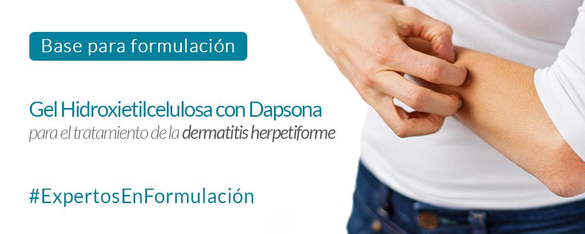 Gel Hidroxietilcelulosa con dapsona para el tratamiento de la Dermatitis Herpetiforme