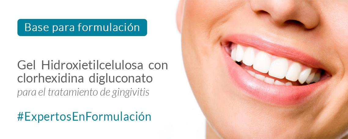 Gel hidroxietilcelulosa con clorhexidina digluconato para mucosa bucal