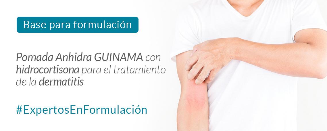 Fórmula magistral antiinflamatoria con hidrocortisona para la dermatitis