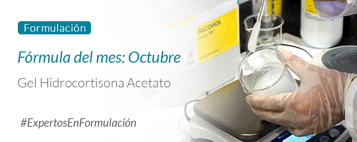 Fórmula del Mes: Gel Hidrocortisona Acetato