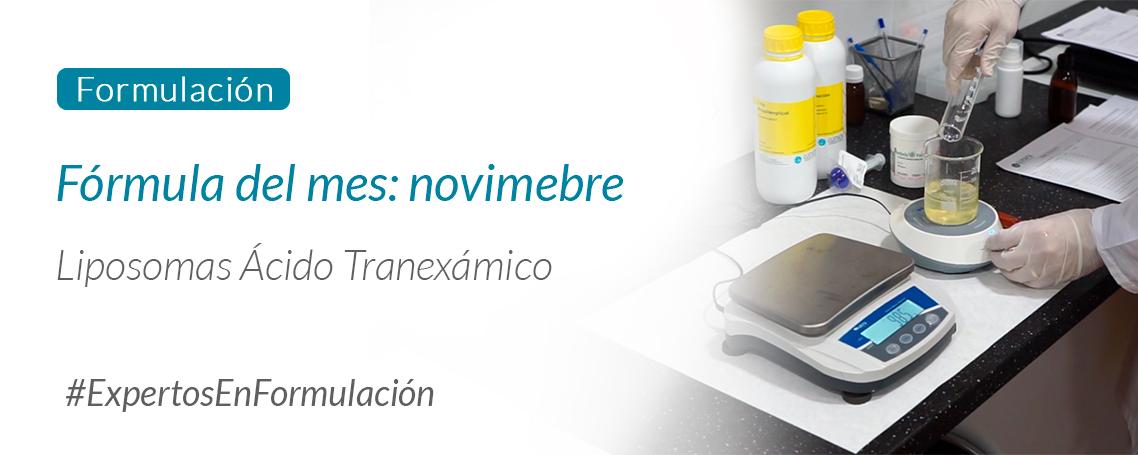 Fórmula del mes: Liposomas ácido tranexámico