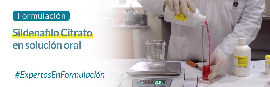 Formulación: Sildenafilo Citrato en solución oral Guinama