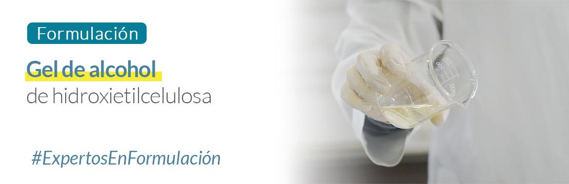 Formulación: gel de alcohol de hidroxietilcelulosa Guinama