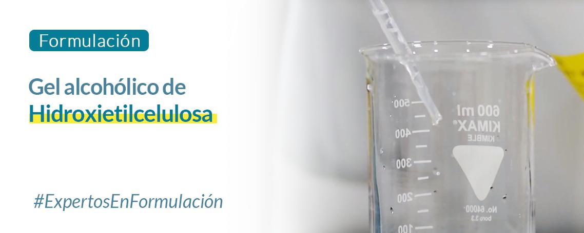 Formulación: gel desinfectante virucida de hidroxietilcelulosa