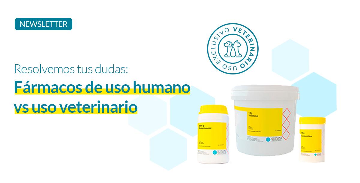 Fármacos de uso humano vs uso veterinario