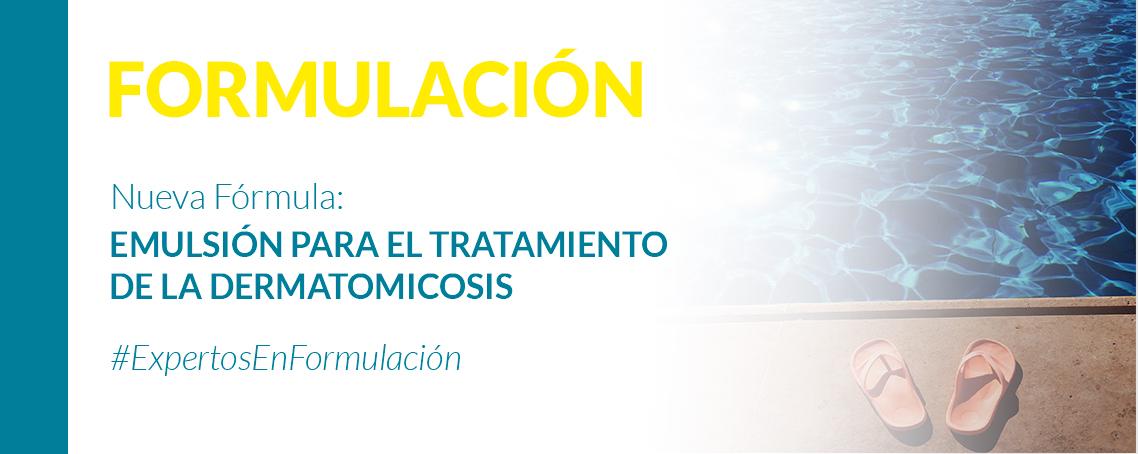 Emulsión para el tratamiento de la dermatomicosis
